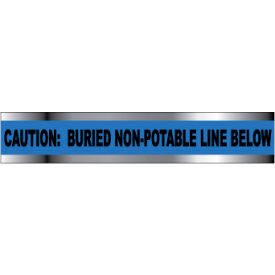 """Detectable Underground Warning Tape - Caution Buried Non-Potable Line - 2""""W"""