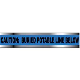 "Detectable Underground Warning Tape - Caution Buried Potable Line Below - 2""W"