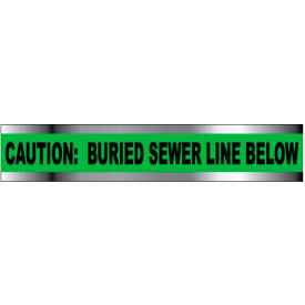 "Detectable Underground Warning Tape - Caution Buried Sewer Line Below - 2""W"