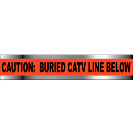 "Detectable Underground Warning Tape - Caution Buried CATV Line Below - 2""W"