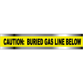 "Detectable Underground Warning Tape - Caution Buried Gas Line Below - 2""W"