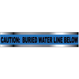 "Detectable Underground Warning Tape - Caution Buried Water Line Below - 3""W"