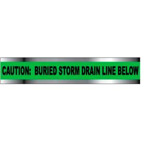 "Detectable Underground Warning Tape - Caution Buried Storm Drain Below - 3""W"