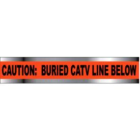 "Detectable Underground Warning Tape - Caution Buried CATV Line Below - 3""W"