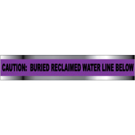 "Detectable Underground Warning Tape - Caution Buried Reclaimed Water Line - 3""W"