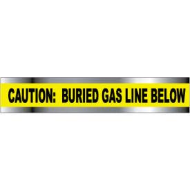 "Detectable Underground Warning Tape - Caution Buried Gas Line Below - 3""W"