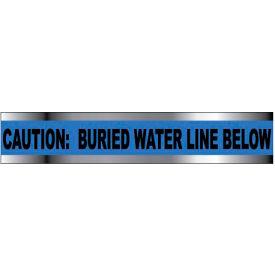 "Detectable Underground Warning Tape - Caution Buried Water Line Below - 6""W"
