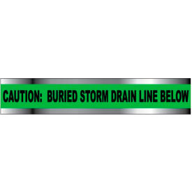 "Detectable Underground Warning Tape - Caution Buried Storm Drain Below - 6""W"