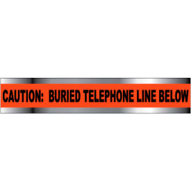 """Detectable Underground Warning Tape - Caution Buried Telephone Line Below - 6""""W"""