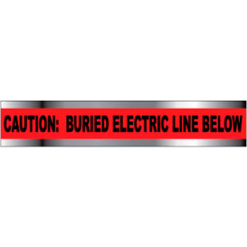 """Detectable Underground Warning Tape - Caution Buried Electric Line Below - 6""""W"""