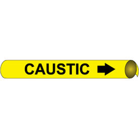 Precoiled and Strap-on Pipe Marker - Caustic