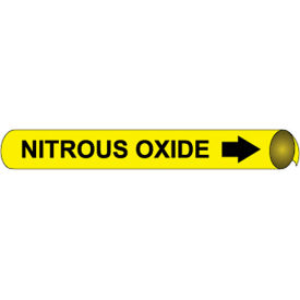 Precoiled and Strap-on Pipe Marker - Nitrous Oxide