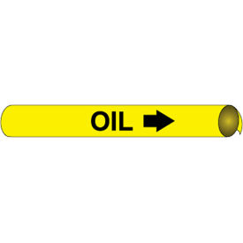 Precoiled and Strap-on Pipe Marker - Oil