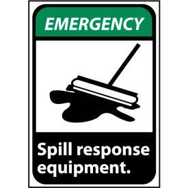 Emergency Sign 10x7 Rigid Plastic - Spill Response Equipment