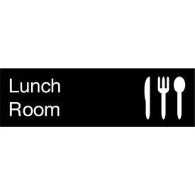 Engraved Sign - Lunch Room - Black