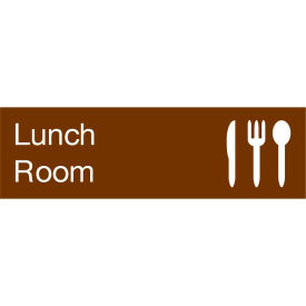 Engraved Sign - Lunch Room - Brown