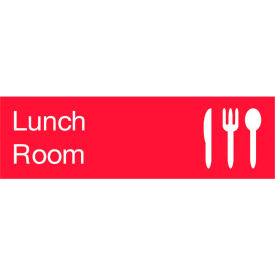 Engraved Sign - Lunch Room - Red