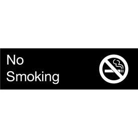 Engraved Sign - No Smoking - Black