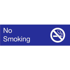 Engraved Sign - No Smoking - Blue