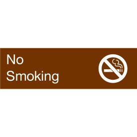 Engraved Sign - No Smoking - Brown