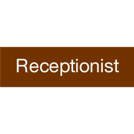 Engraved Sign - Receptionist - Brown