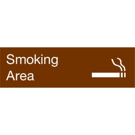 Engraved Sign - Smoking Area - Brown