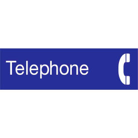Engraved Sign - Telephone - Blue