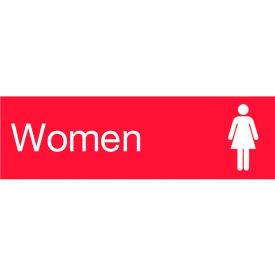 Engraved Sign - Women - Red