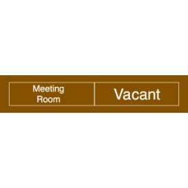Engraved Occupancy Sign - Meeting Room In Use Vacant - Red