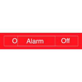 Engraved Occupancy Sign - Alarm On Off - Gray