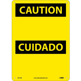 Bilingual Aluminum Sign - Caution Blank