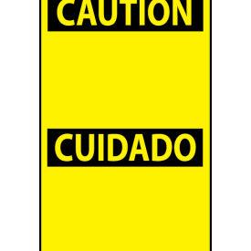 Bilingual Machine Labels - Caution Cuidado Header
