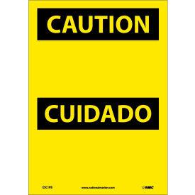 Bilingual Vinyl Sign - Caution Blank