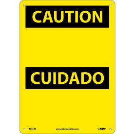 Bilingual Plastic Sign - Caution Blank