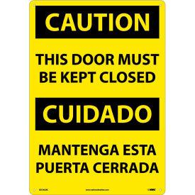Bilingual Plastic Sign - Caution This Door Must Be Kept Closed