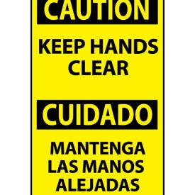Bilingual Machine Labels - Caution Keep Hands Clear