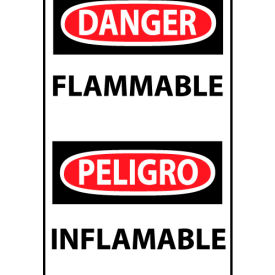 Bilingual Machine Labels - Danger Flammable