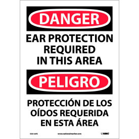 Bilingual Vinyl Sign - Danger Ear Protection Required In This Area