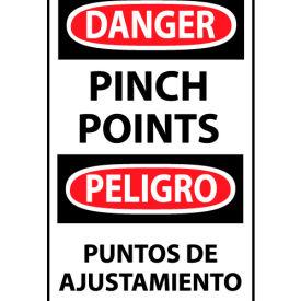 Bilingual Machine Labels - Danger Pinch Points