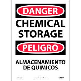 Bilingual Vinyl Sign - Danger Chemical Storage