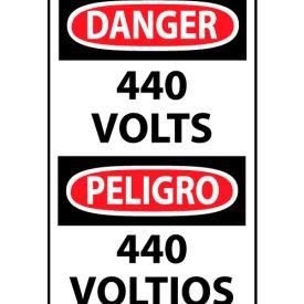Bilingual Machine Labels - Danger 440 Volts