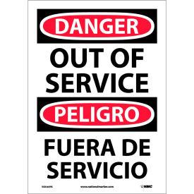 Bilingual Vinyl Sign - Danger Out Of Service