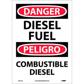 Bilingual Vinyl Sign - Danger Diesel Fuel