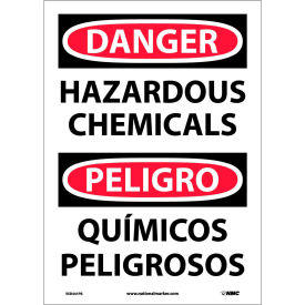Bilingual Vinyl Sign - Danger Hazardous Chemicals