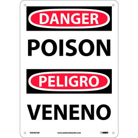 Bilingual Aluminum Sign - Danger Poison