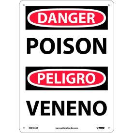 Bilingual Aluminum Sign - Danger Poison