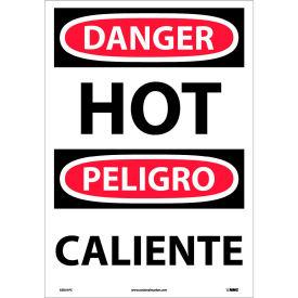 Bilingual Vinyl Sign - Danger Hot