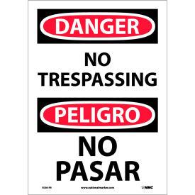 Bilingual Vinyl Sign - Danger No Trespassing