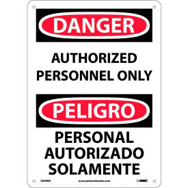 Bilingual Plastic Sign - Danger Authorized Personnel Only