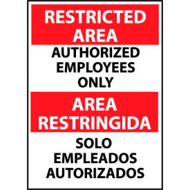 Restricted Area Plastic - Bilingual - Authorized Employees Only